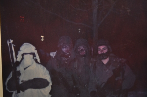 The author and some of his team during winter war games.  Germany, 1989