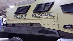 Morgan County's latest tool against...  something.  A surplus MRAP provided at no cost.