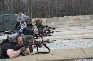 Ross Elder participating in a Combat Carbine Course with the Alliance Police Training Center in Alliance, Ohio.