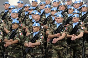 Peacekeepers from the United Nations Int