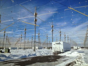 The super secret HAARP array.  The photographer and uploader of this photo was immediately placed in a FEMA death camp and incinerated by a secret death ray.