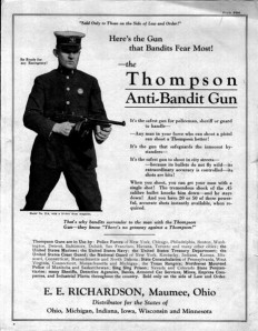 A police ad from 1921.