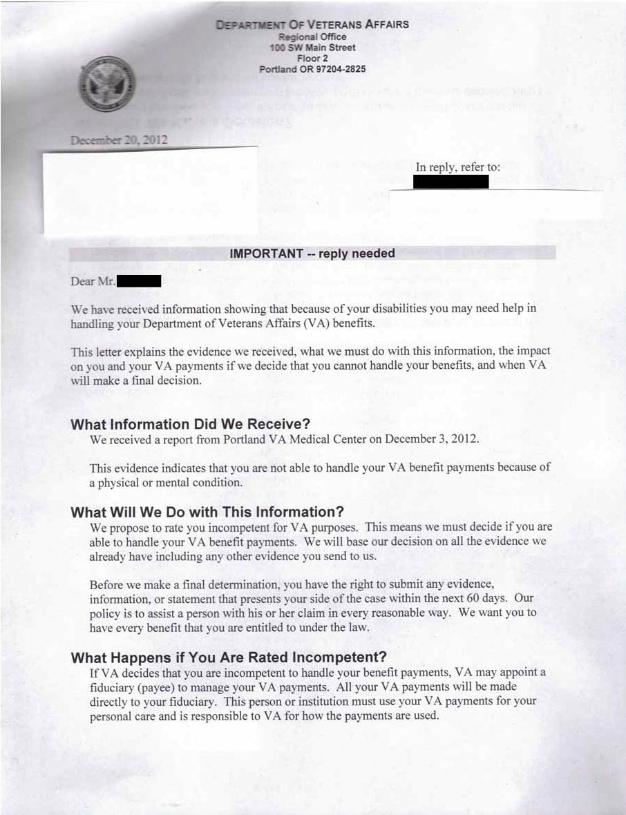 The Disarming of Americas Veterans the conspiracy that wasnt – Va Appeal Letter